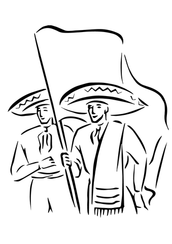 Cinco de Mayo Parade coloring page