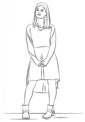 Clara Oswald from Doctor Who coloring page