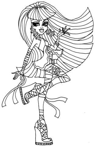 Monster High Coloring Pages Cleo De Nile Dawn Of The Dance