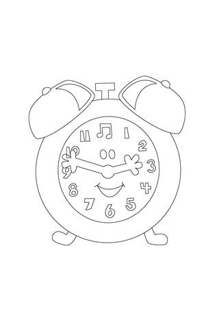 Tickety Tock Is Showing Us The Time coloring page