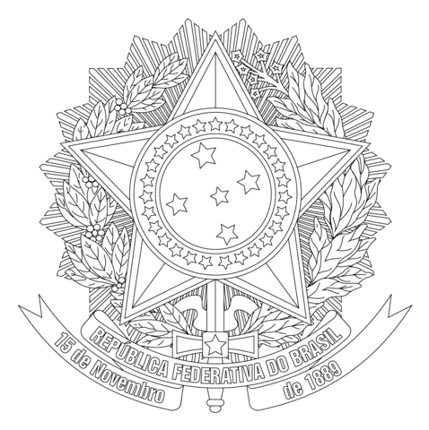 Coat of Arms of Brazil coloring page