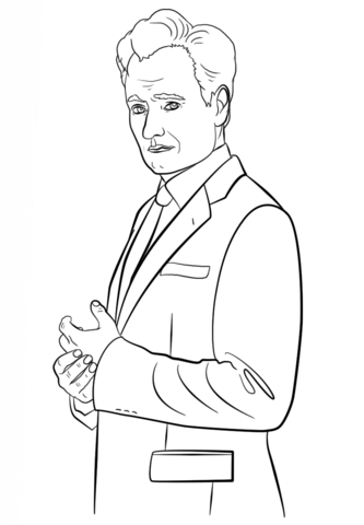 psy coloring page conan obrien coloring page