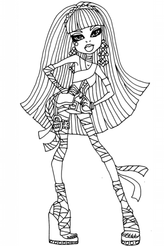 Cool Cleo de Nile coloring page