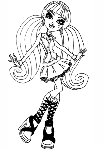 Cool Draculaura coloring page
