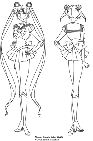 Cosmic Sailor Moon coloring page