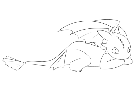 Creeping Toothless coloring page Free Printable Coloring Pages