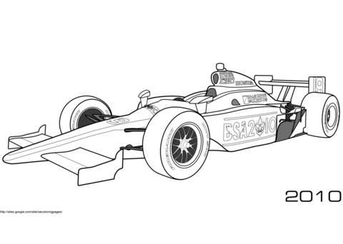 2010 Aston Martin DBR1 coloring page - Free Printable Coloring Pages