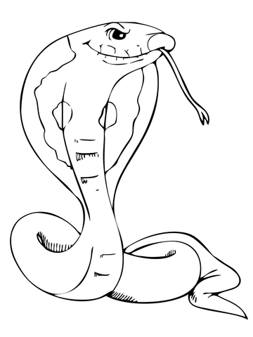Dangerous Cobra coloring page