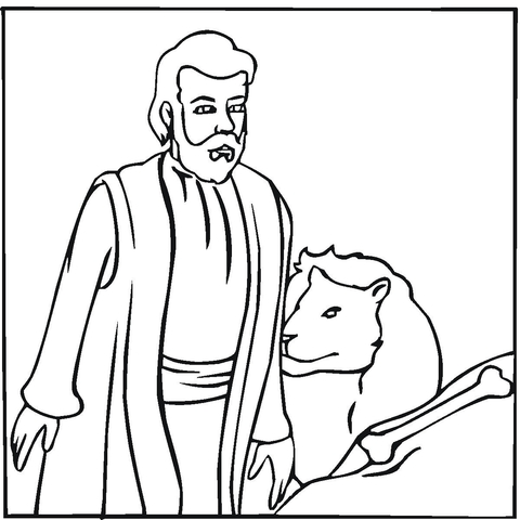 Daniel coloring page - Free Printable Coloring Pages