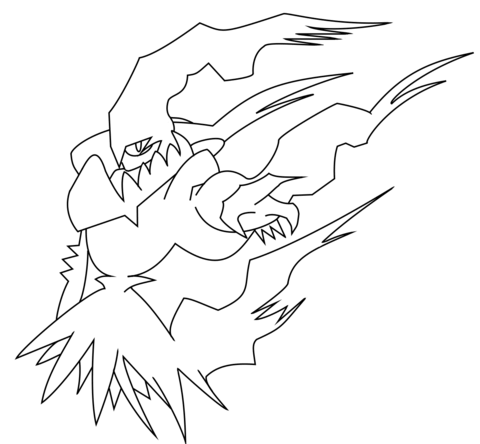 Darkrai  coloring page