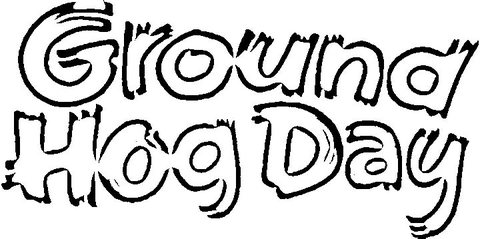 Day of Groundhog coloring page - Free Printable Coloring Pages