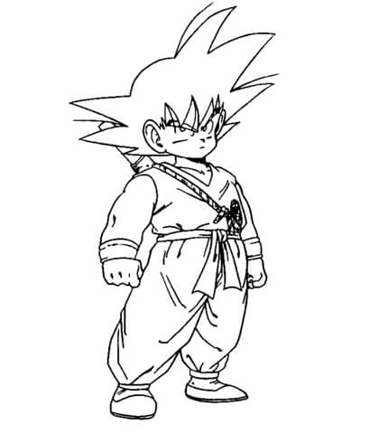 Dbz  coloring page
