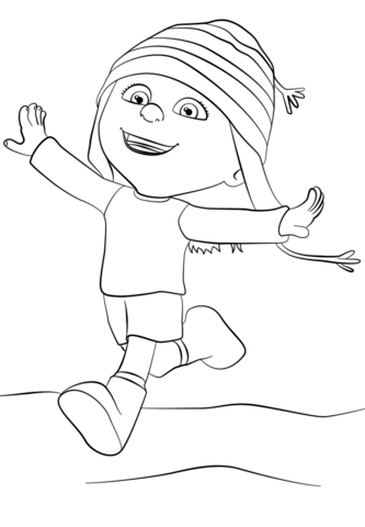 Despicable Me Edith coloring page