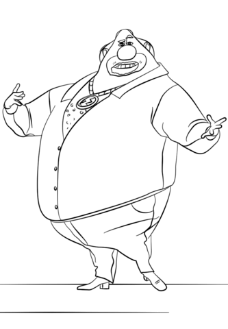 Despicable Me El Macho coloring page