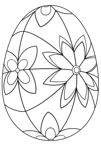 Detailed Easter Egg coloring page - Free Printable Coloring Pages