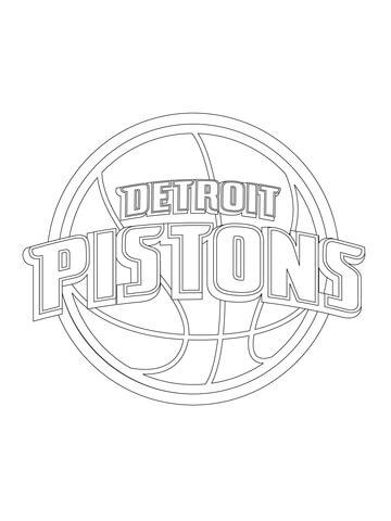 Detroit Pistons Logo Coloring Page