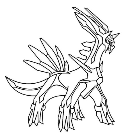 Dialga  coloring page