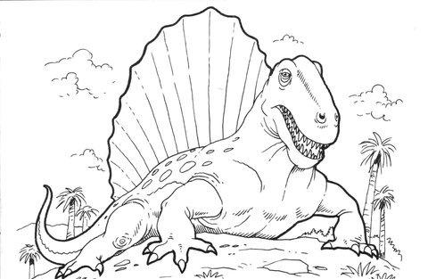 Iguanodon Dinosaurs coloring page - Free Printable Coloring Pages