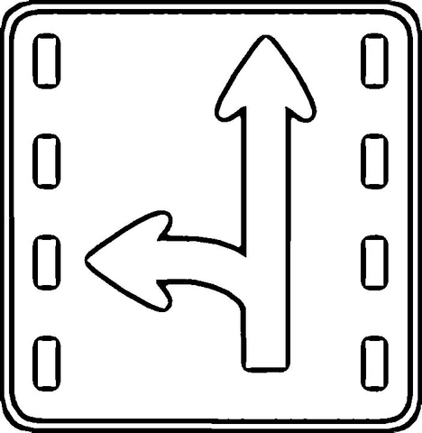 Direction Sign  coloring page