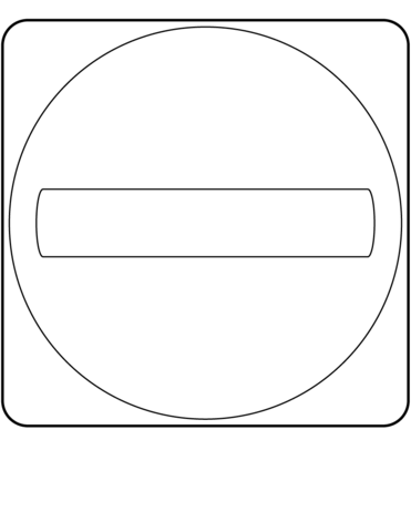 Do Not Enter Canada Sign coloring page