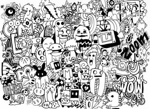 Doodle Collab coloring page
