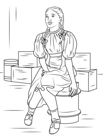 Dorothy Gale coloring page