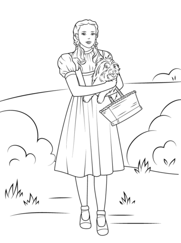 Dorothy Holding Toto coloring page