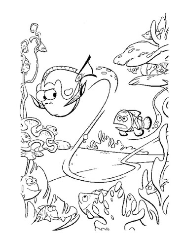 Dory Swims Too Fast  coloring page