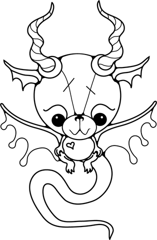 Dragon Baby coloring page