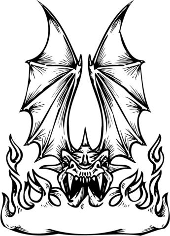 Dragon Fire Breathing coloring page