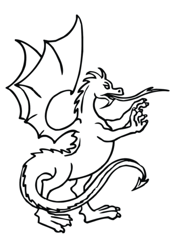Dragon Standing up coloring page
