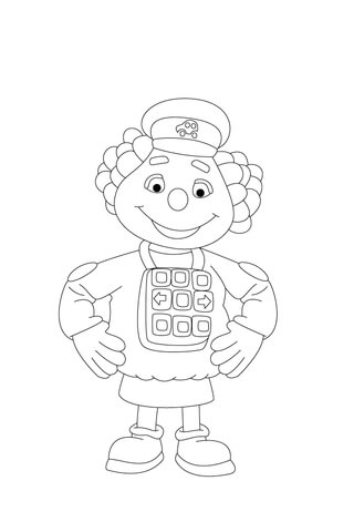 Driver Dottie is Waiting coloring page