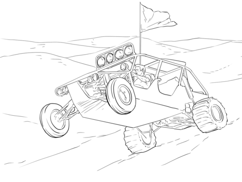 tag off road vehicle dune buggy coloring page