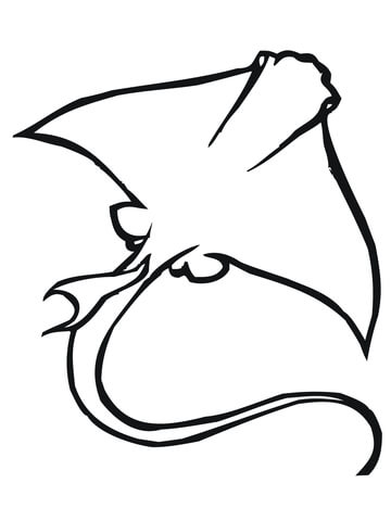 Manta Ray Underside coloring page - Free Printable Coloring Pages