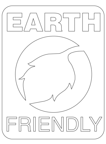 Earth Friendly Label coloring page