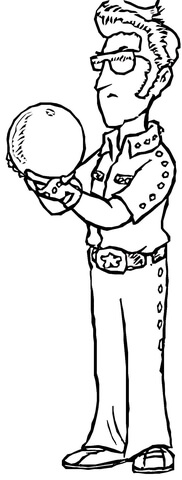Elvis coloring page - Free Printable Coloring Pages