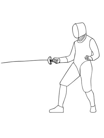 Epee Fencing coloring page