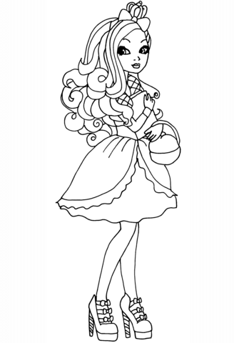 ever after high thronecoming raven queen coloring page free