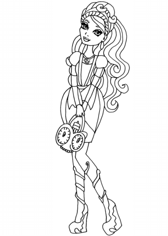 Ever After High Ashlynn Ella Coloring Page
