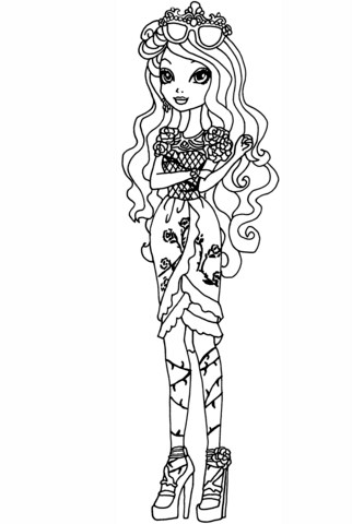 Ever After High Briar Beauty Coloring Page