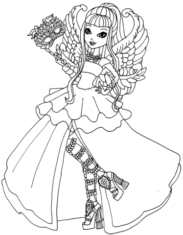 Ever After High C.A. Cupid Thronecoming coloring page