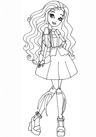 Ever After High Cedar Wood coloring page
