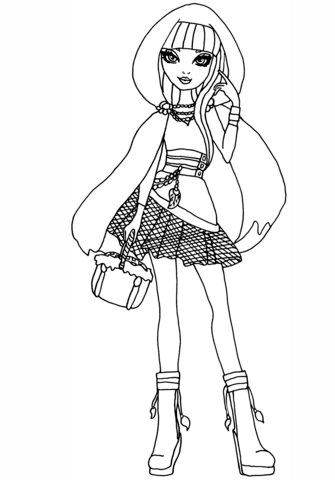 Ever After High Cerise Hood Coloring page