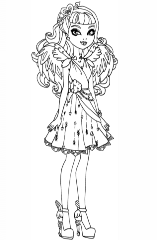 Ever After High Cupid Ever After High coloring page