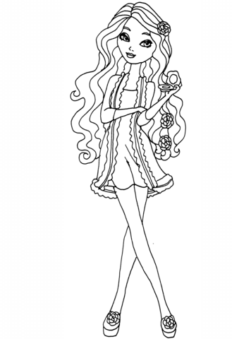 Ever After High Getting fairest Briar coloring page