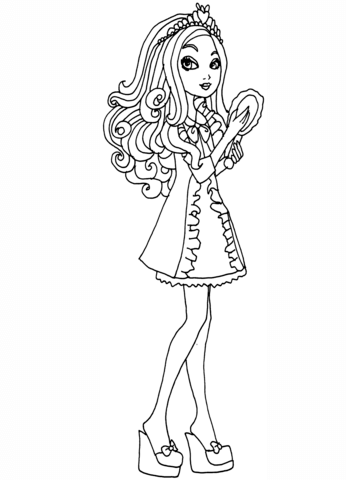 Ever After High Getting Fairest Apple Coloring page