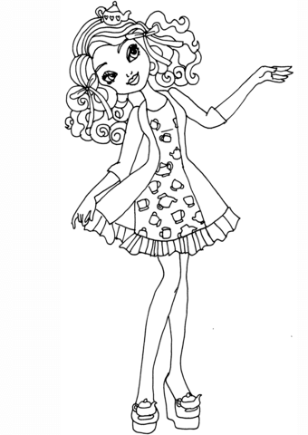Ever After High Getting Fairest Madeline coloring page