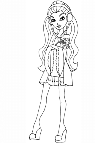 Ever After High Getting Fairest Raven coloring page