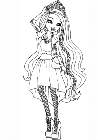 Ever After High Holly O\'Hair coloring page - Free Printable ...