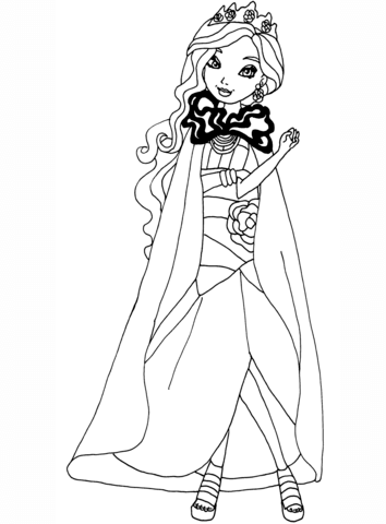 Ever After High Legacy Day Briar coloring page